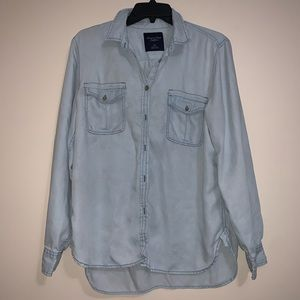 Light Wash Button Down Shirt from American Eagle